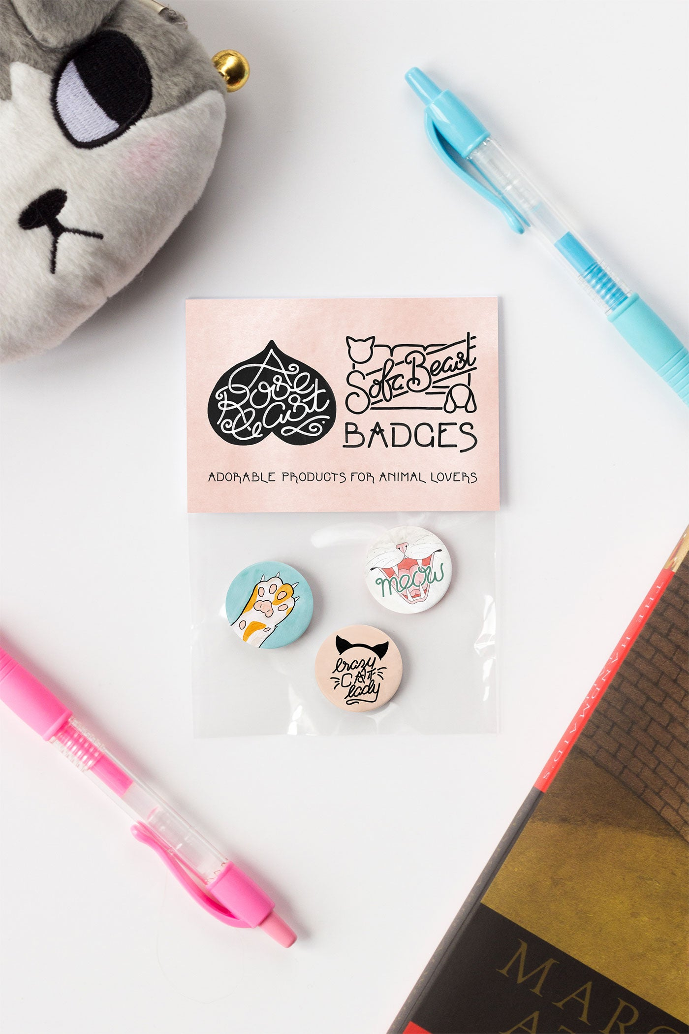 Crazy Cat Lady Pin-Back Button Badges