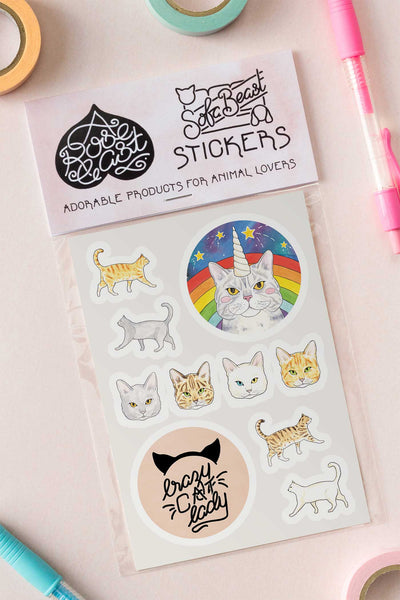 Cat Lover Kiss-Cut Vinyl Stickers - A Rose Cast