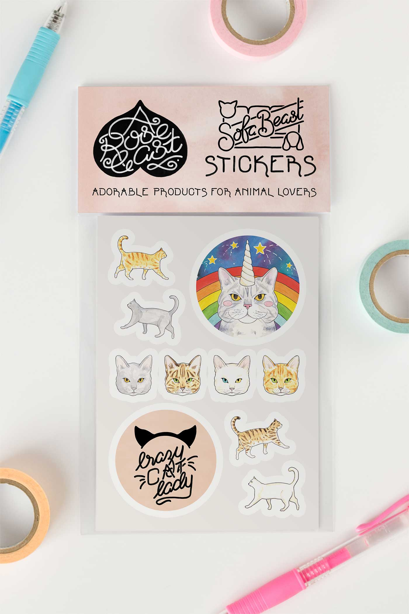 Cat Lover / Crazy Cat Lady Kiss-Cut Vinyl Stickers