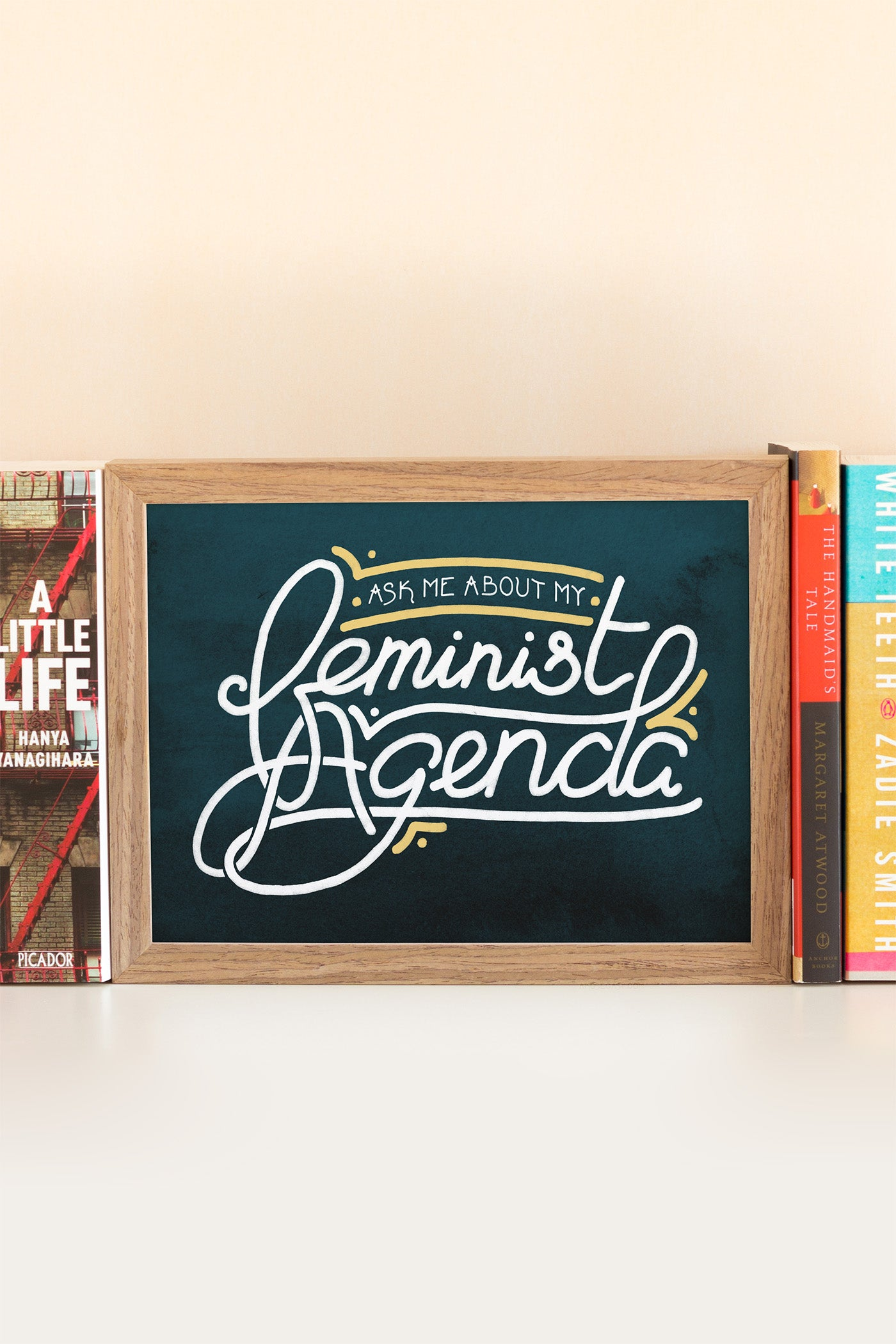 Ask Me About My Feminist Agenda Illustrated Art Print