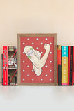 Nasty Women / Feminist Rosie the Riveter Illustrated Art Print - A Rose Cast