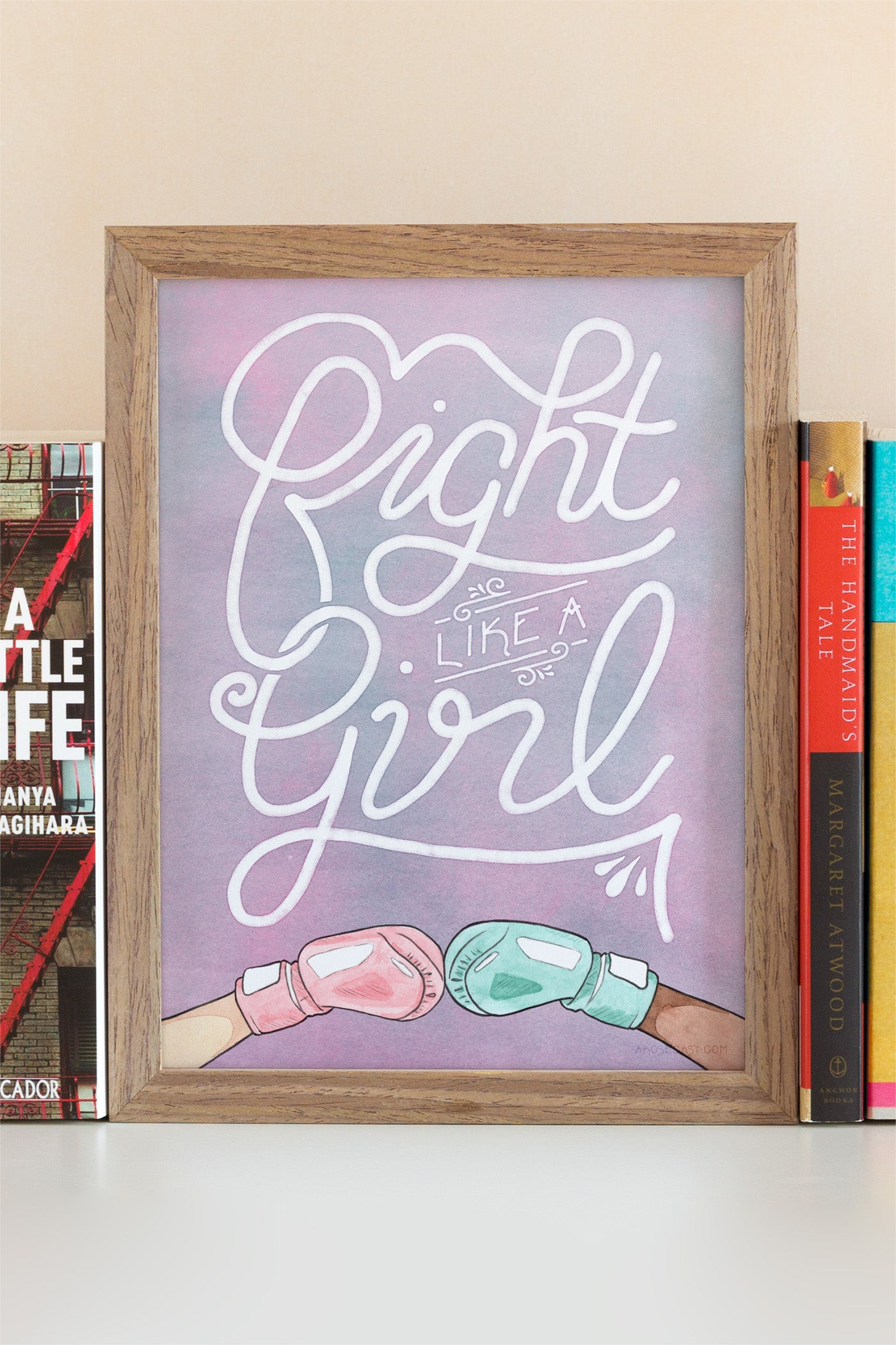 Fight Like a Girl Illustrated Art Print