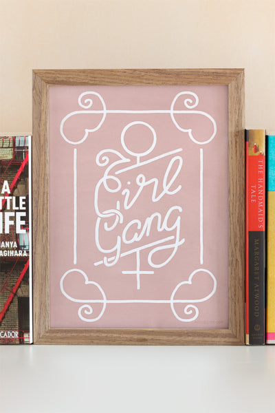 Girl Gang Ornate Illustrated Art Print