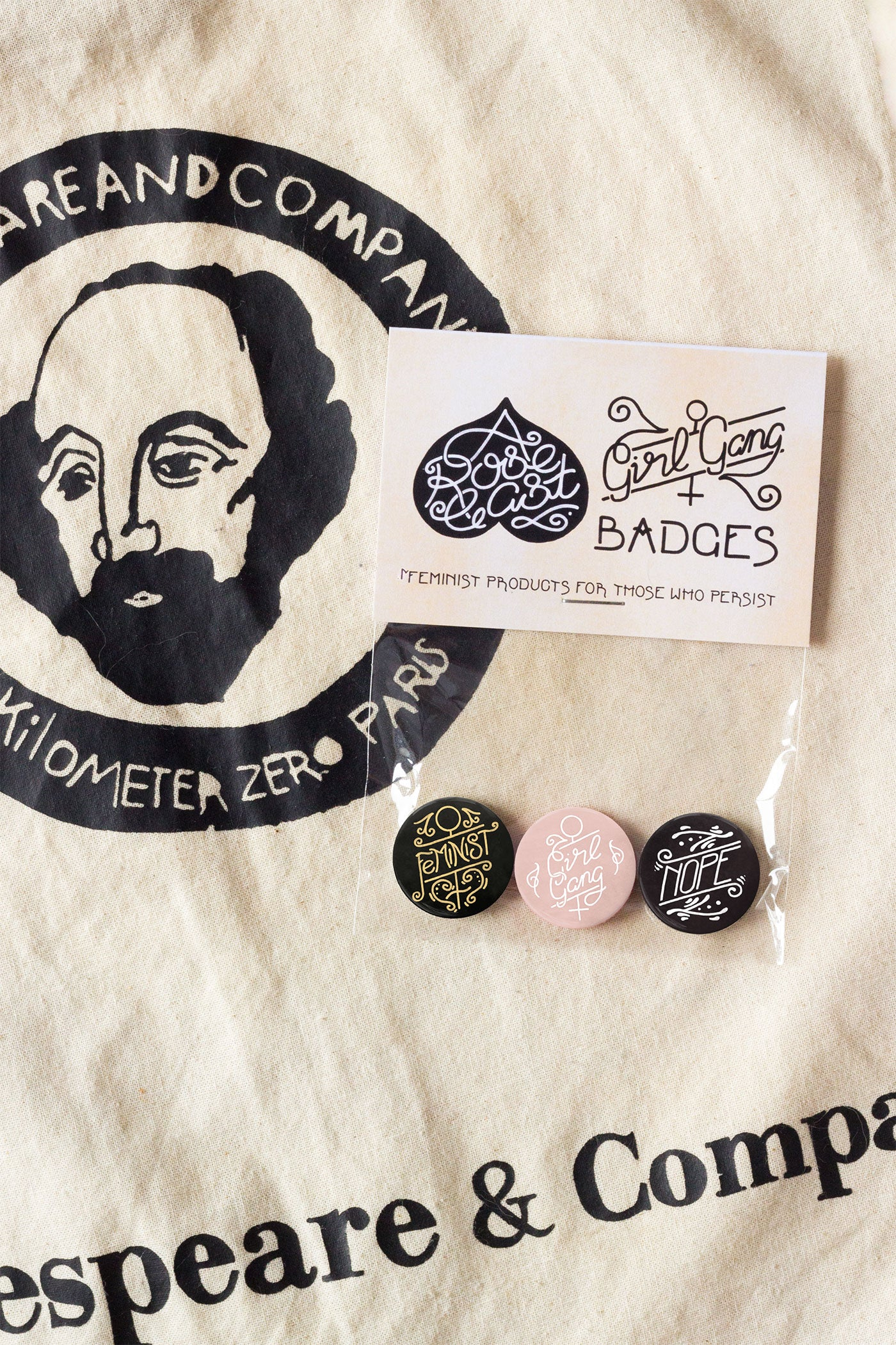 Girl Gang / Feminist Pin-Back Button Badges