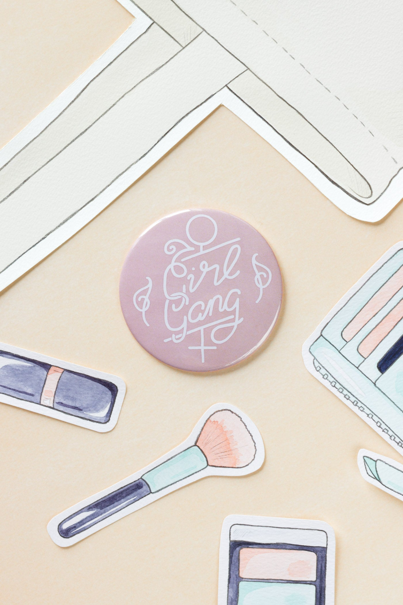 Girl Gang / Feminist Pocket Mirror - A Rose Cast