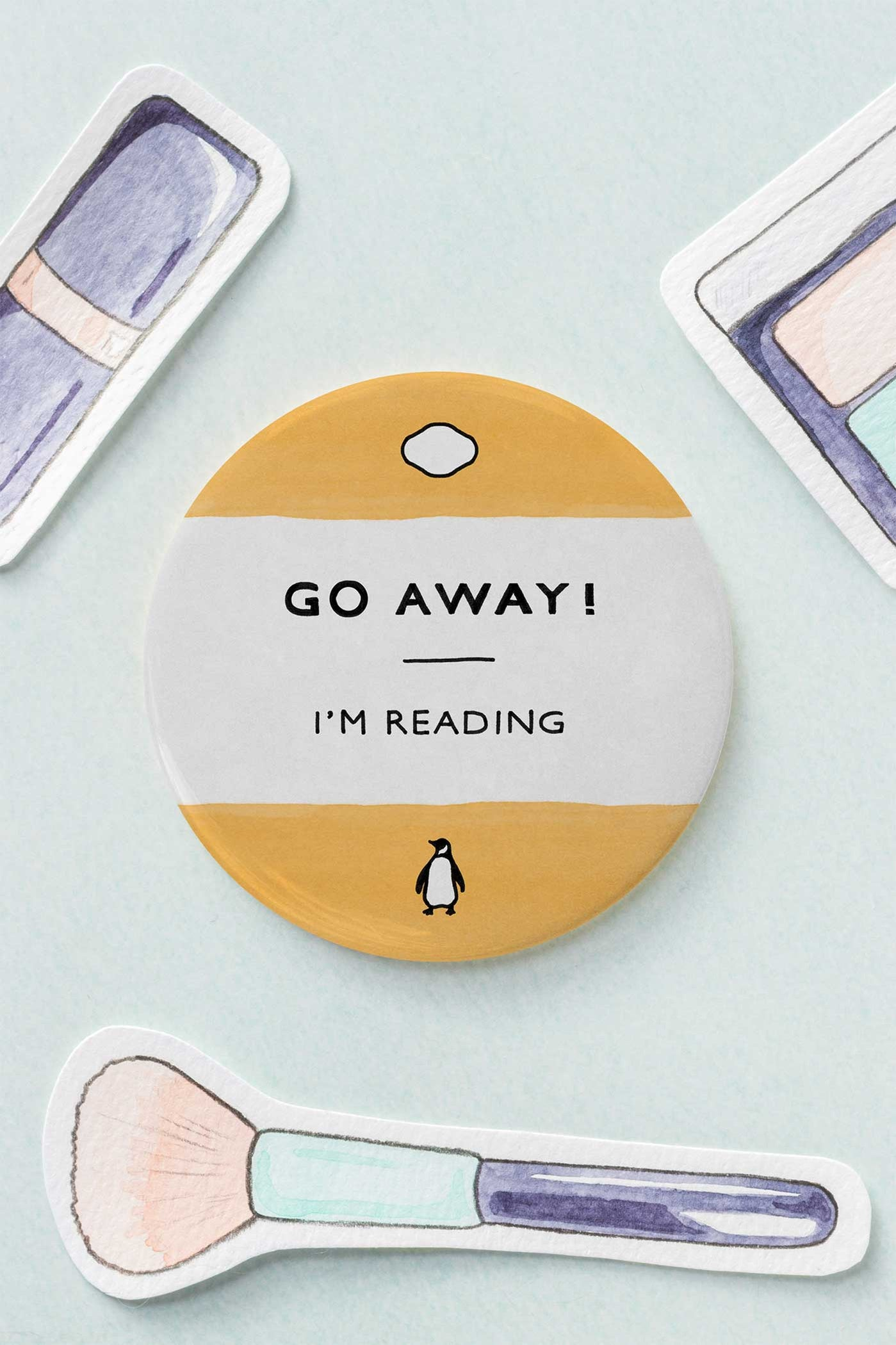 Go Away! I'm Reading Penguin Classics Inspired Pocket Mirror - A Rose Cast
