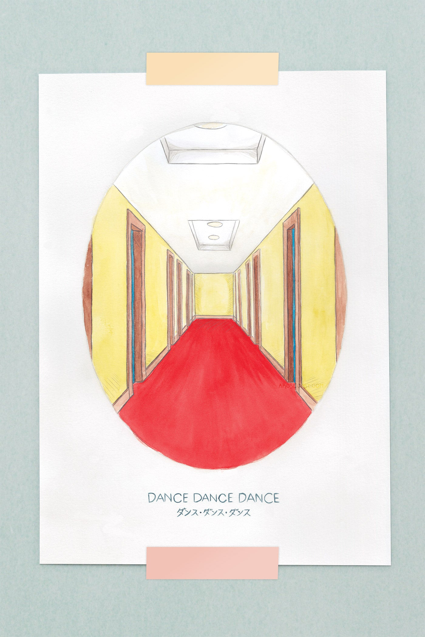 Haruki Murakami's Dance, Dance, Dance Novel Illustration Art Print - A Rose Cast