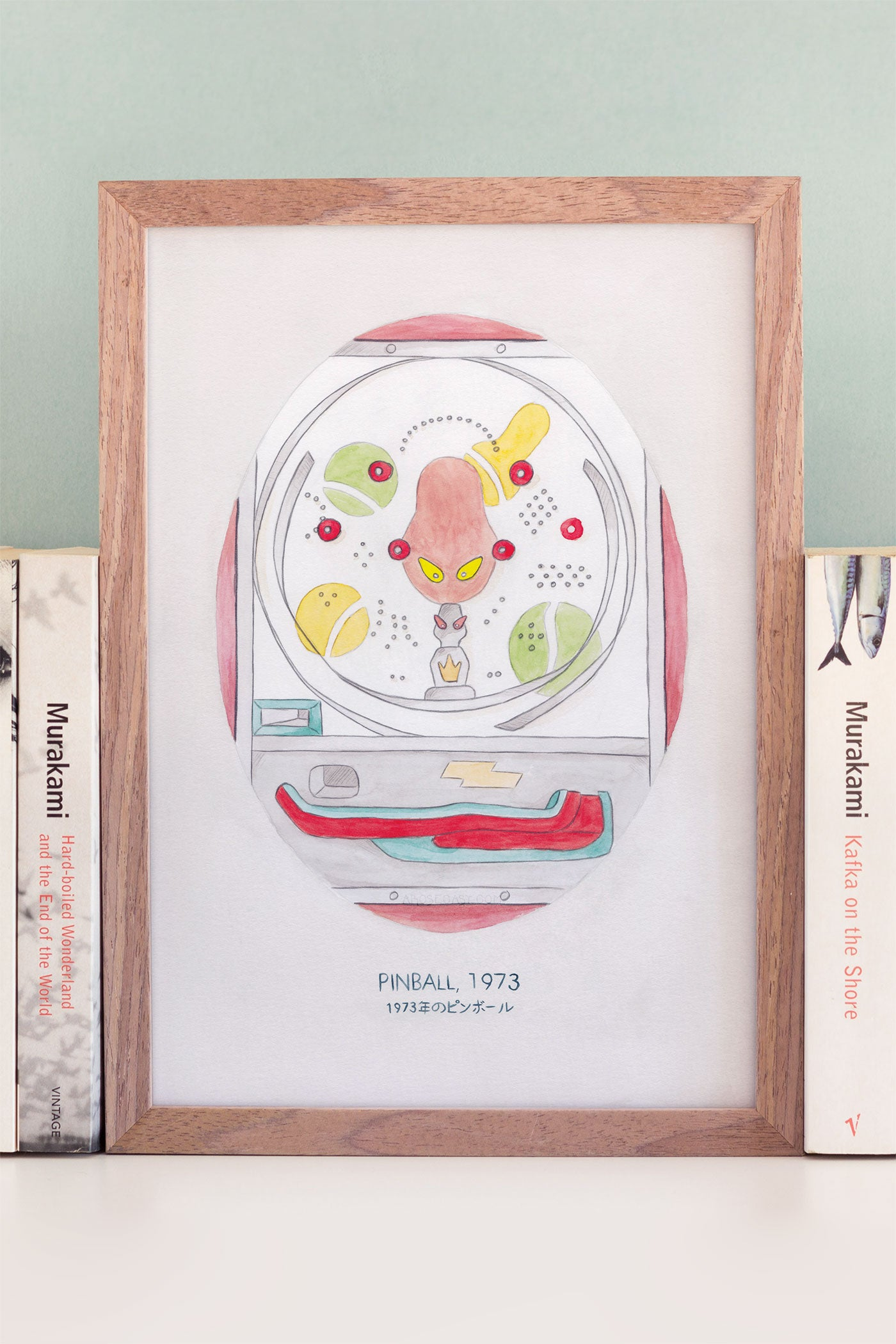 Haruki Murakami's Pinball, 1973 A4 Watercolour Novel Illustration