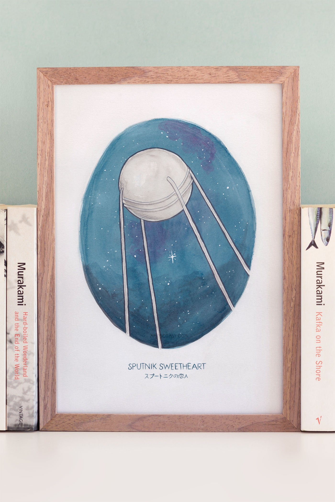Haruki Murakami's Sputnik Sweetheart Novel Illustration Art Print - A Rose Cast