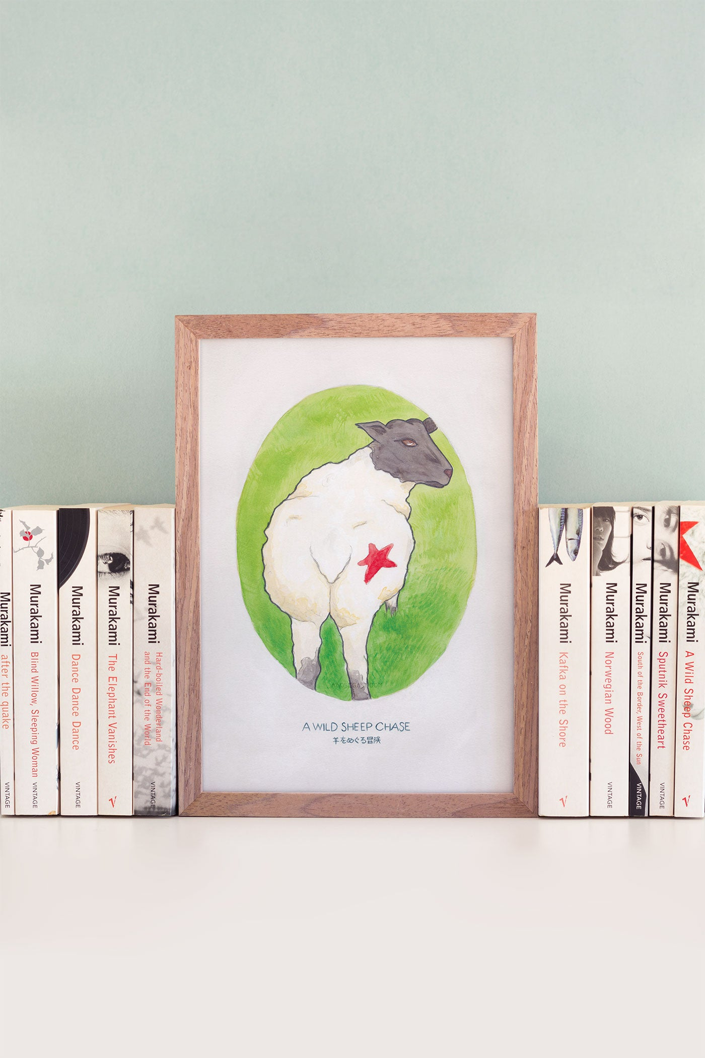 Haruki Murakami's A Wild Sheep Chase Novel Illustration Art Print - A Rose Cast