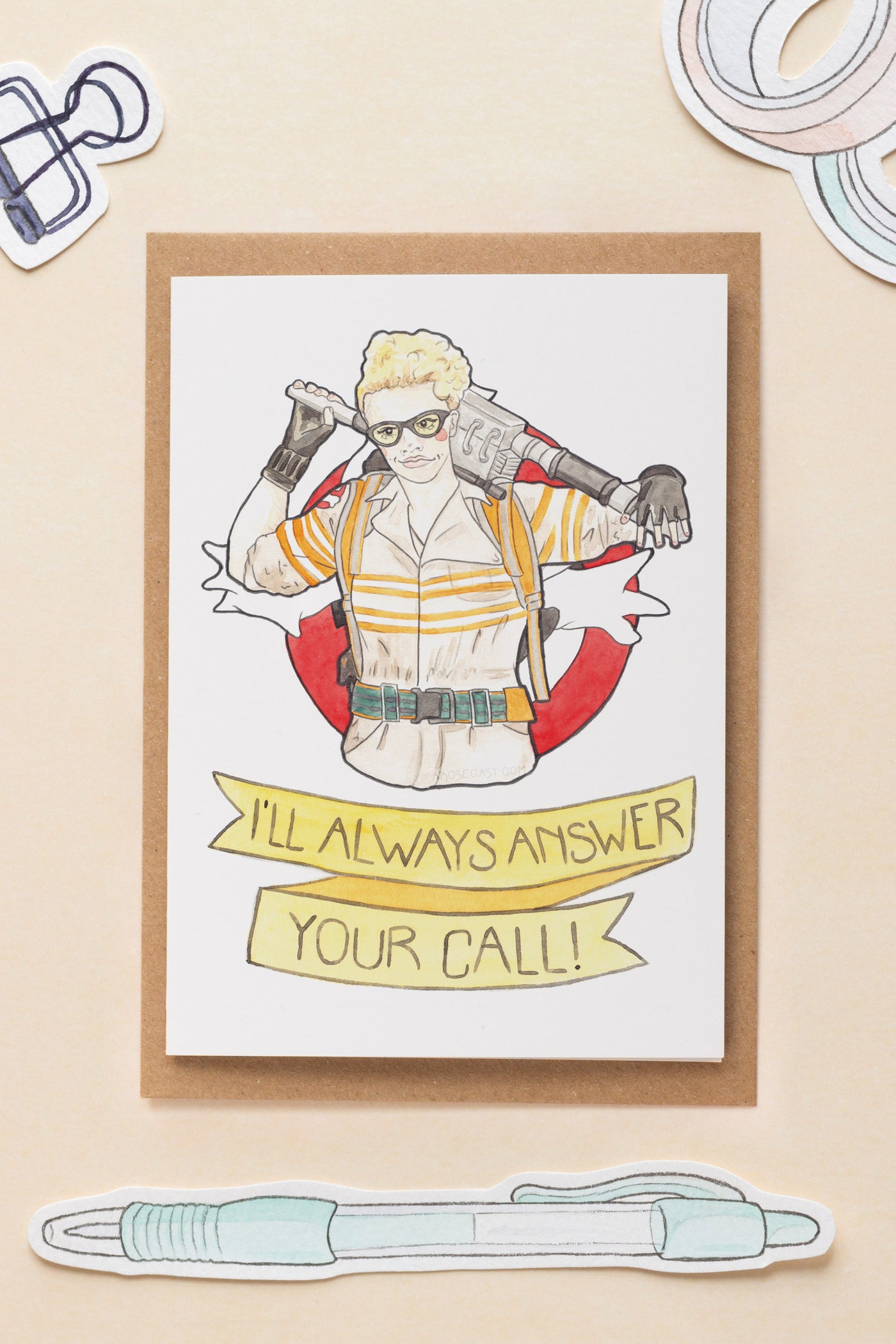 Jillian Holtzmann / Ghostbusters 2016 Galentine's Day / Friendship Greeting Card
