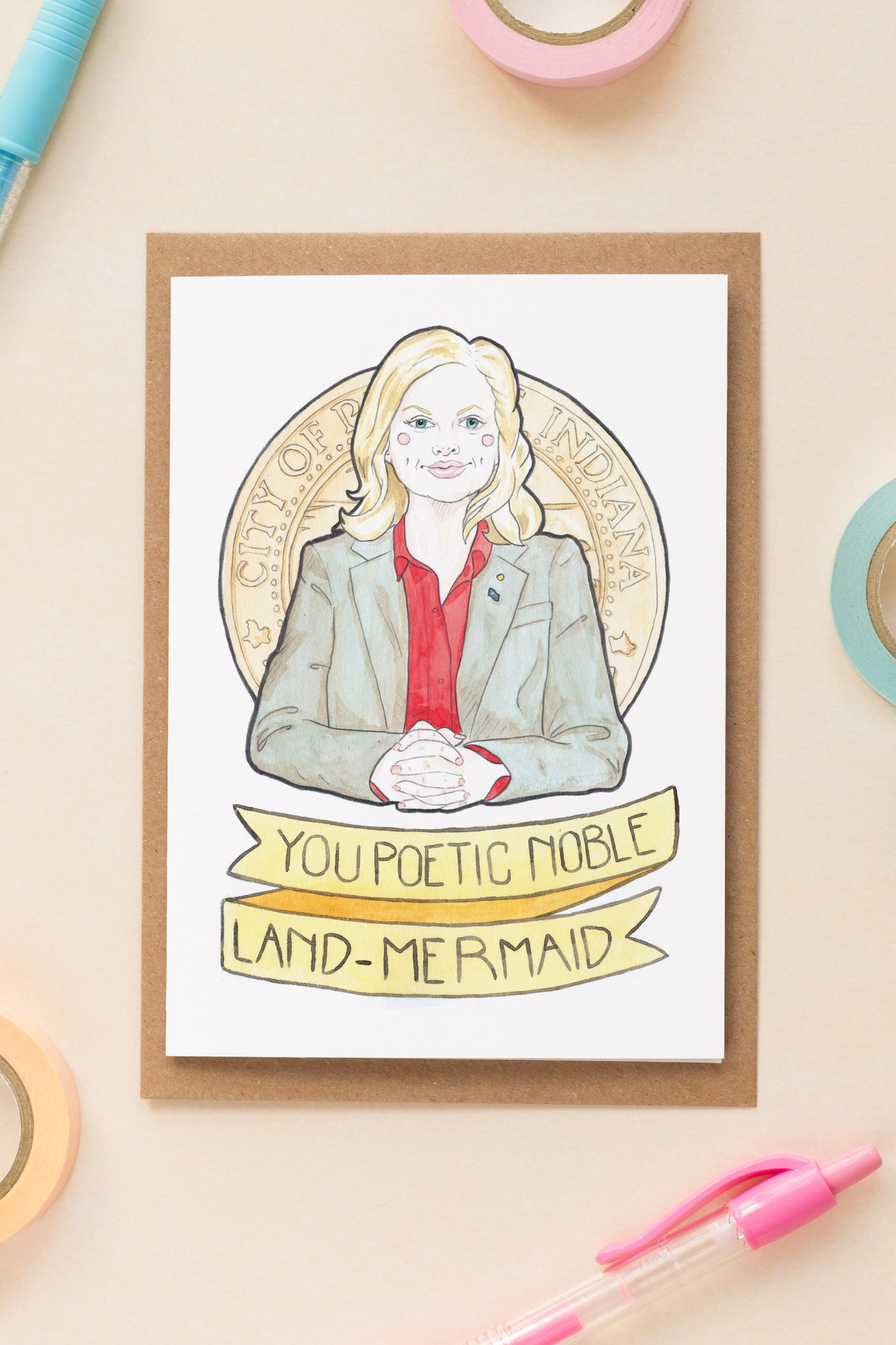 Leslie knope parks rec galentines day friendship greeting leslie knope parks rec galentines day friendship greeting card m4hsunfo