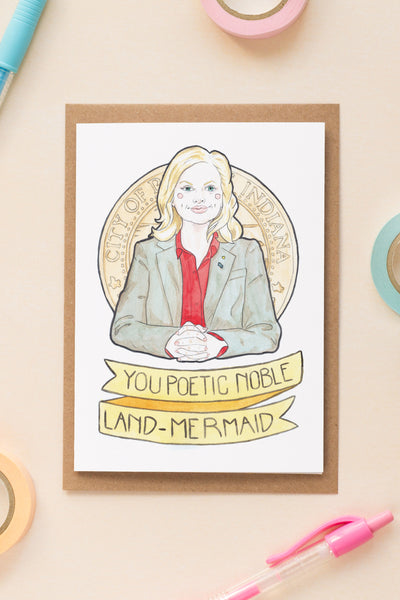 Leslie Knope / Parks & Rec Galentine's Day / Friendship Greeting Card