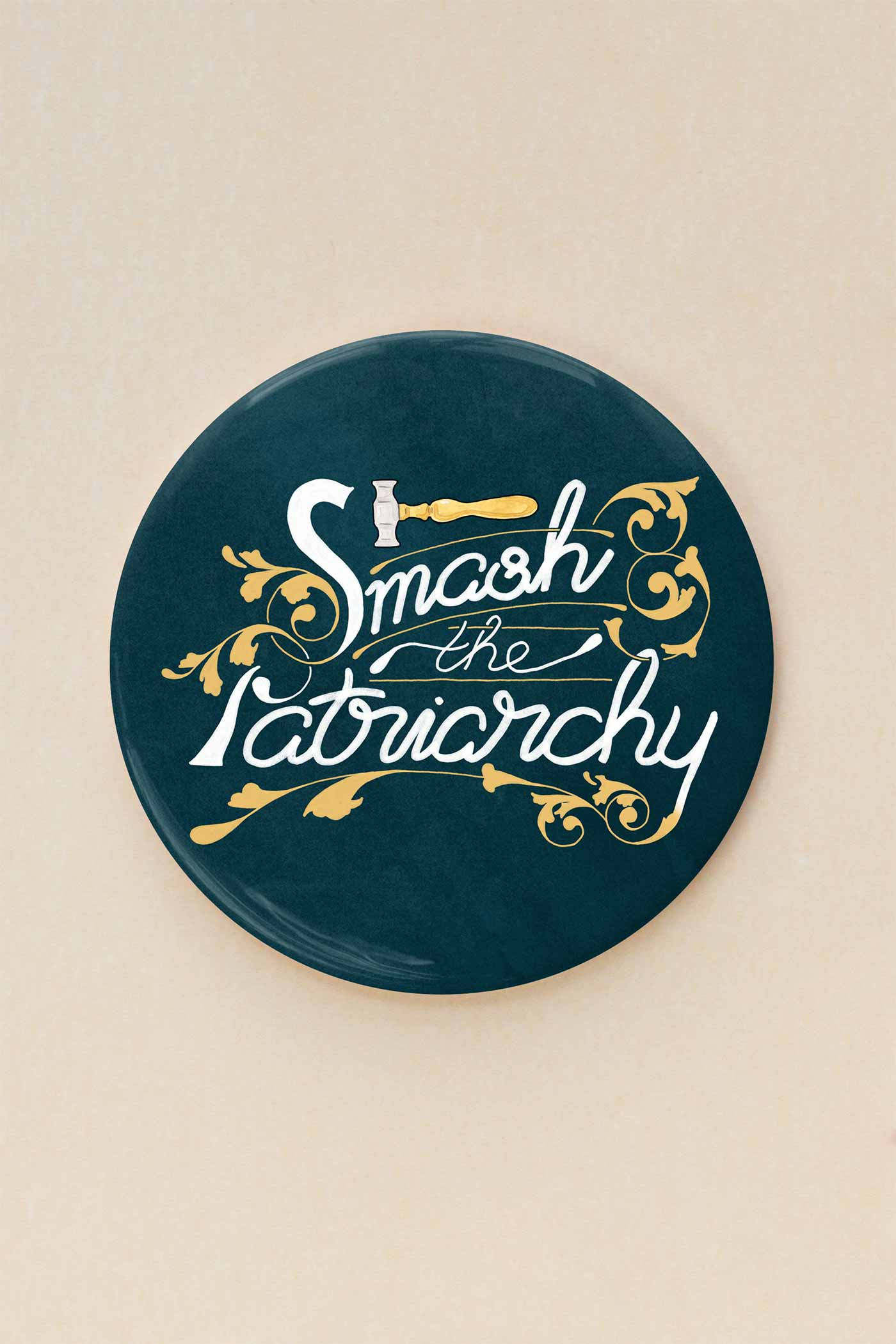 Smash the Patriarchy Feminist Pocket Mirror - A Rose Cast