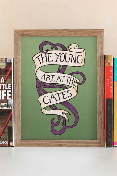 The Young are at the Gates Suffragette Feminist Quote Art Print - A Rose Cast