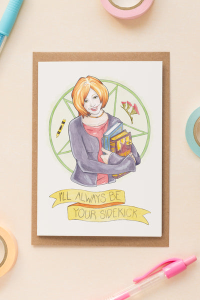 Willow Rosenberg of Buffy The Vampire Slayer Galentine's Day / Birthday / Friendship Greeting Card - A Rose Cast