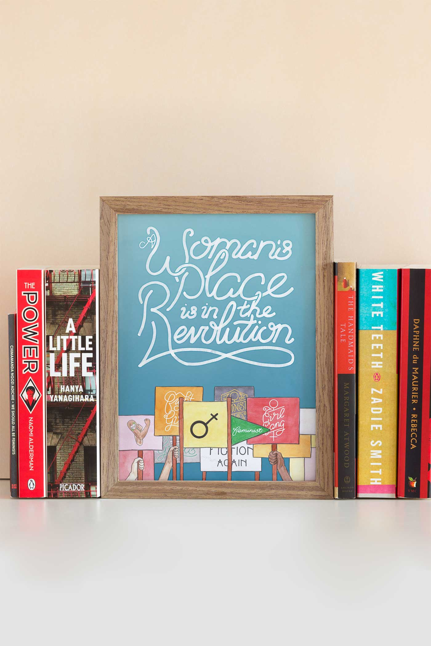 A Women's Place is in the Revolution Feminist Illustrated Art Print - A Rose Cast
