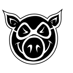 Pig Wheels Stickers
