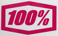 100 Percent Plaque Sticker-Sticker Blimp Decals