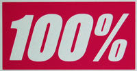 100 Percent Square Sticker-Sticker Blimp Decals