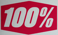 100 Percent Sticker-Sticker Blimp Decals