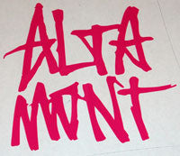 Altamont Text Sticker - sticker blimp decals