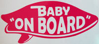 Baby On Board Surfboard 2 Sticker - sticker blimp decals