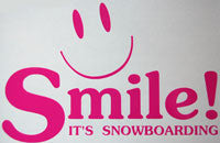 Bataleon Smile It's Snowboarding Sticker - sticker blimp decals