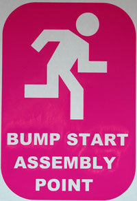 Bump Start Assembly Point Sticker - sticker blimp decals