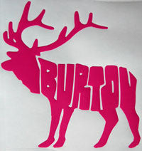 Burton Moose Sticker-Sticker Blimp Decals