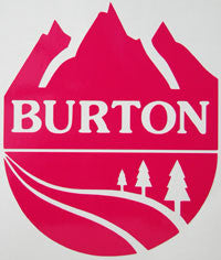 Burton Mountain Round Sticker - sticker blimp decals