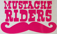 Burton Mustache Riders Sticker-Sticker Blimp Decals