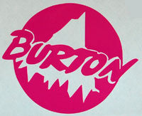 Burton Retro Sticker-Sticker Blimp Decals