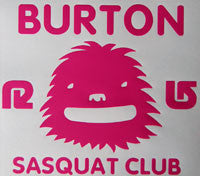 Burton Sasquat Club Sticker-Sticker Blimp Decals