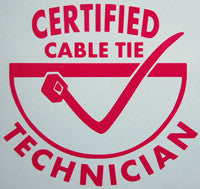 Certified Cable Tie Technician Sticker-Sticker Blimp Decals