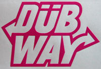 Dubway Stacked Sticker-Sticker Blimp Decals