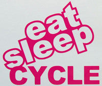 Eat Sleep Cycle Sticker-Sticker Blimp Decals