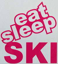 Eat Sleep Ski Sticker-Sticker Blimp Decals