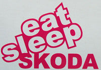 Eat Sleep Skoda Sticker-Sticker Blimp Decals