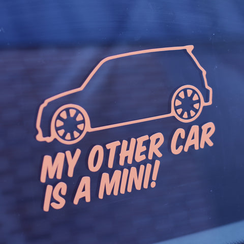 MINI - My Other Car Is A.... Sticker-Sticker Blimp Decals