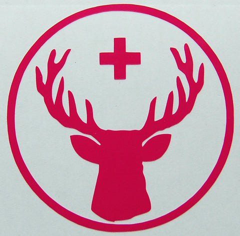 Jagermeister Stag Circle Sticker-Sticker Blimp Decals