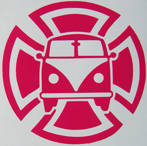 Maltese Cross Splitty Sticker-Sticker Blimp Decals
