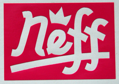 Neff Crown Square Sticker-Sticker Blimp Decals