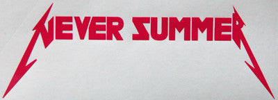 Never Summer Metal Sticker-Sticker Blimp Decals