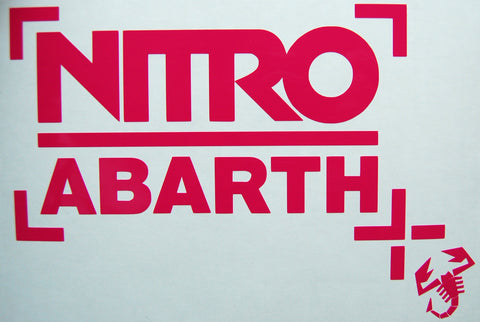 Nitro Abarth Sticker-Sticker Blimp Decals