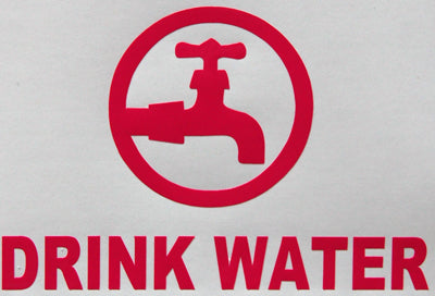 Drink Water Sticker-Sticker Blimp Decals
