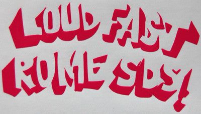 Rome SDS Loud And Fast Sticker-Sticker Blimp Decals
