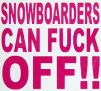 Snowboarders Can F*ck Off Sticker-Sticker Blimp Decals