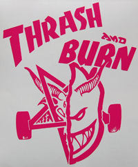 Spitfire Wheels Thrash And Burn Sticker-Sticker Blimp Decals