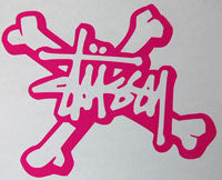 Stussy Bones Sticker-Sticker Blimp Decals